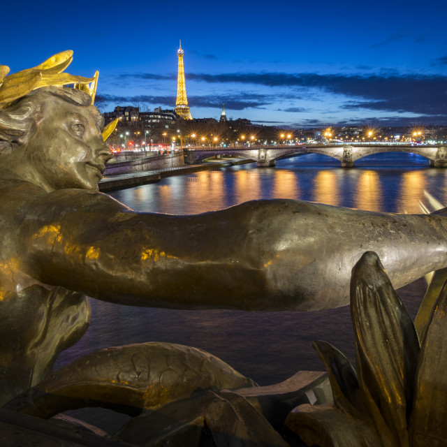 """Pont Alexandre III on the river Seine, Paris, France"" stock image"
