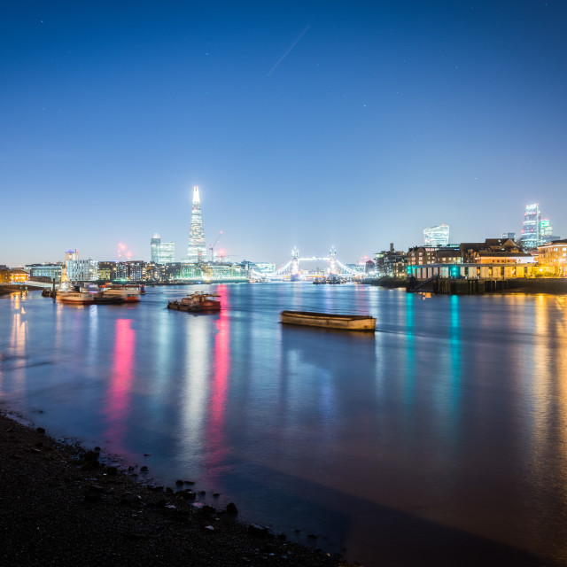 """The river Thames in London from Rotherhithe"" stock image"
