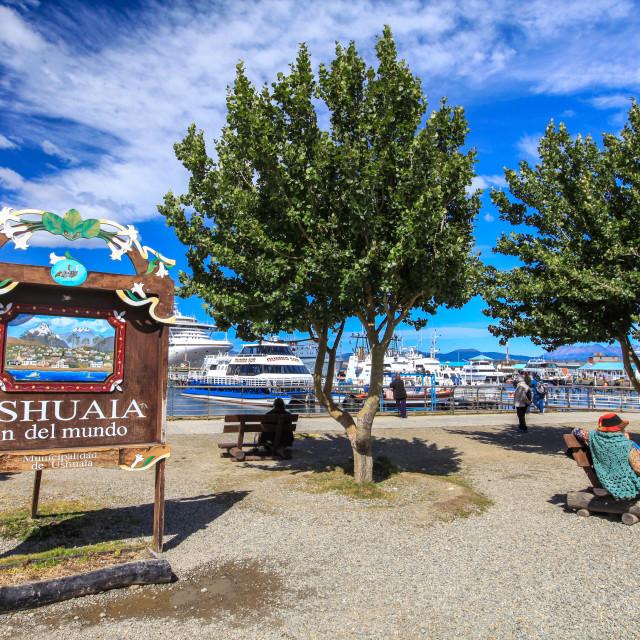 """""""Ushuaia, Argentina"""" stock image"""