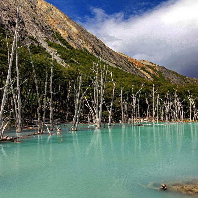 """Lake Esmeralda"" stock image"