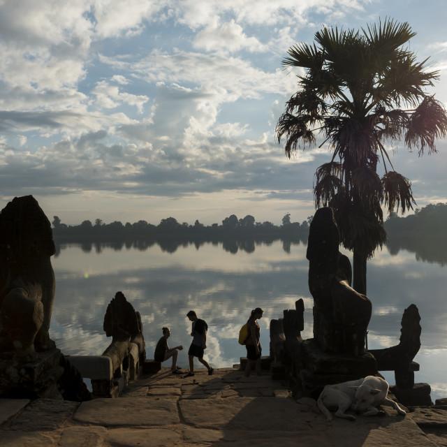 """""""Srah Srang Baray, Angkor"""" stock image"""