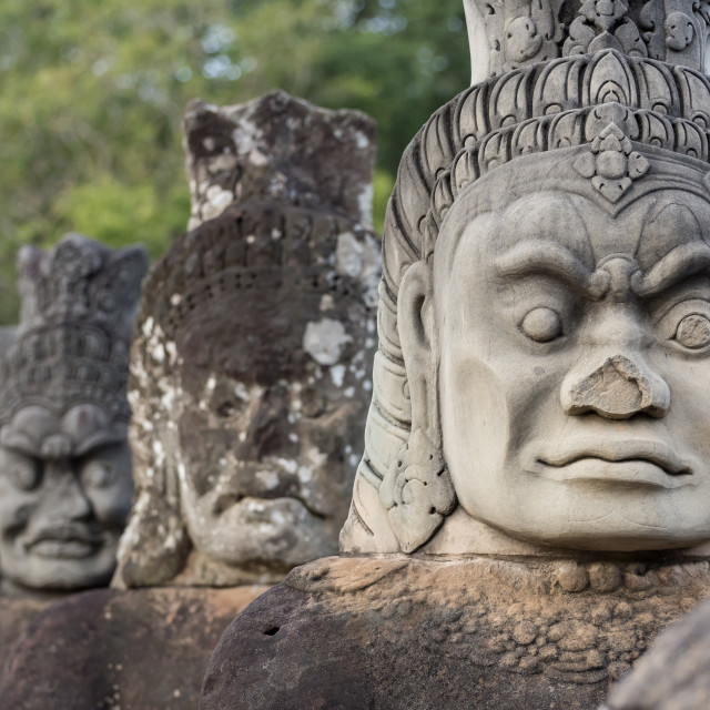 """Statues of Demons, Angkor Thom"" stock image"