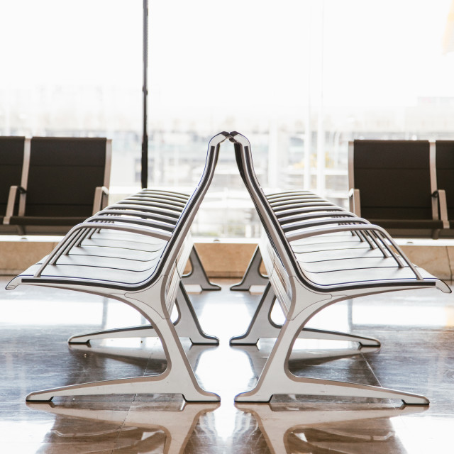 """""""Seats in the airport"""" stock image"""