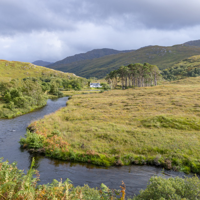 """River Ailort, highlands, Scotland"" stock image"