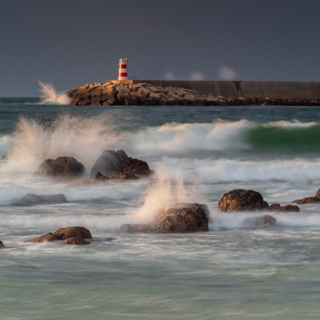 """""""Light on the Lighthouse"""" stock image"""