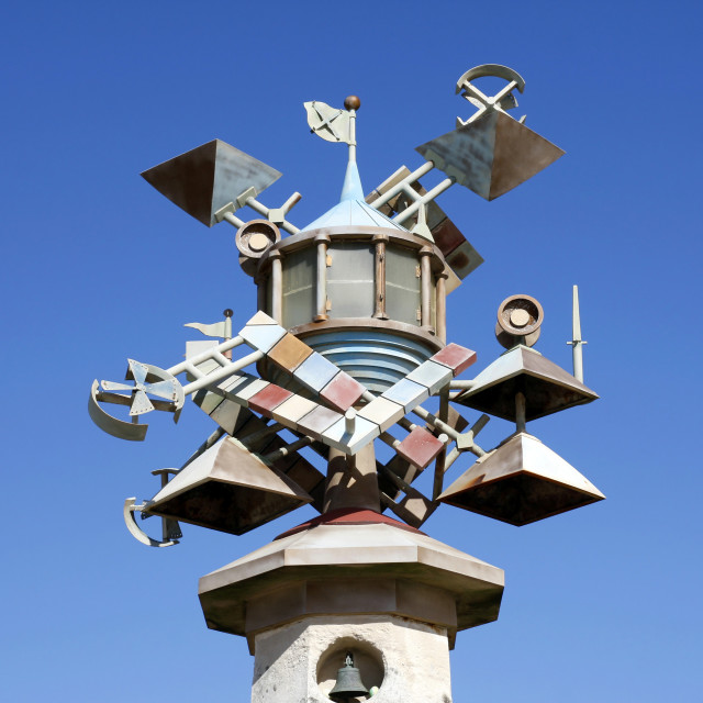 """""""Lighthouse Tower art sculpture, Swansea, South Wales, UK"""" stock image"""