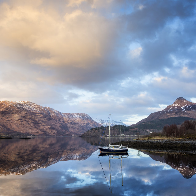 """Loch Leven Mood"" stock image"
