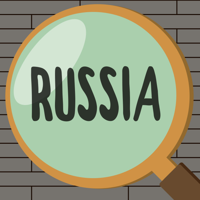 """""""Handwriting text writing Russia. Concept meaning worlds largest nation..."""" stock image"""