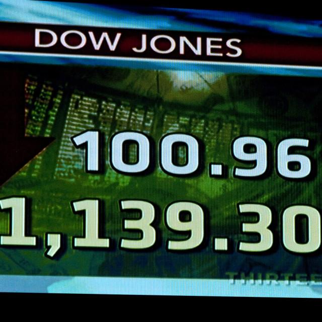 """""""Dow Jones Trading Floor"""" stock image"""