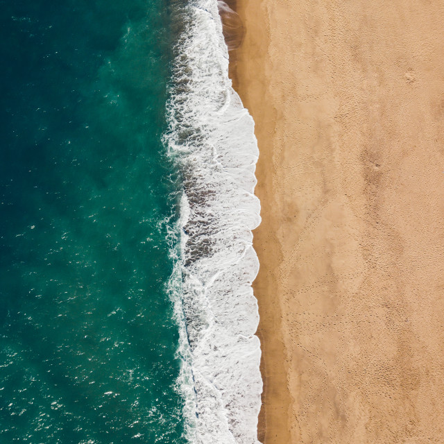 """""""High angle view of the beach"""" stock image"""
