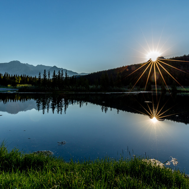 """Banff Sunrise"" stock image"