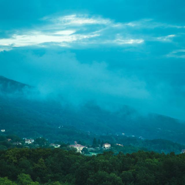 """Blue mountains"" stock image"