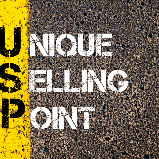 """""""Business Acronym USP as UNIQUE SELLING POINT"""" stock image"""