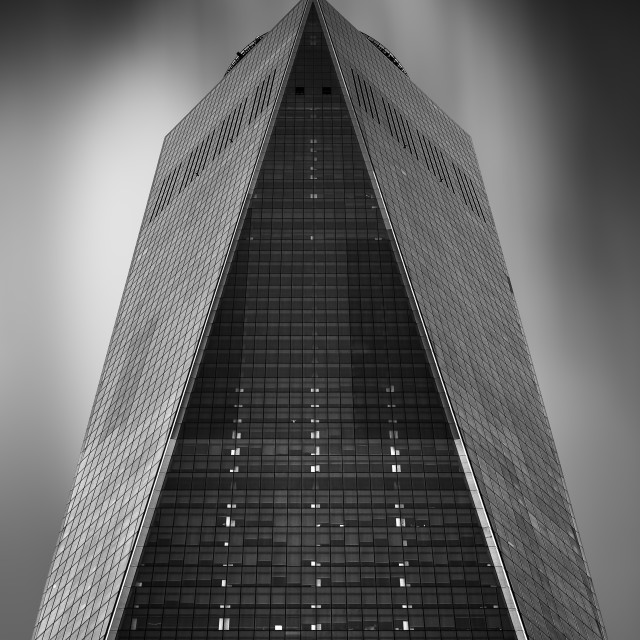 """Low angle view of One World Trade Center"" stock image"