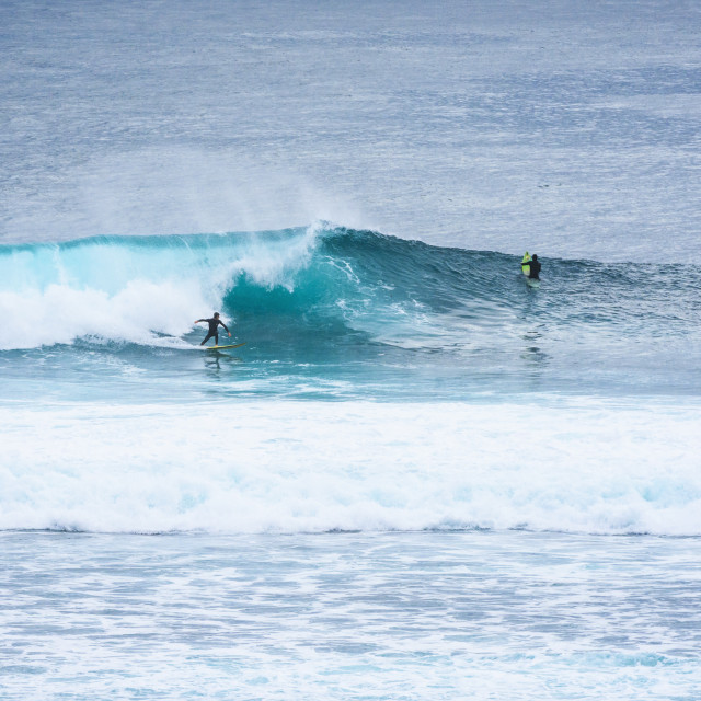 """Surfers at Margaret River"" stock image"