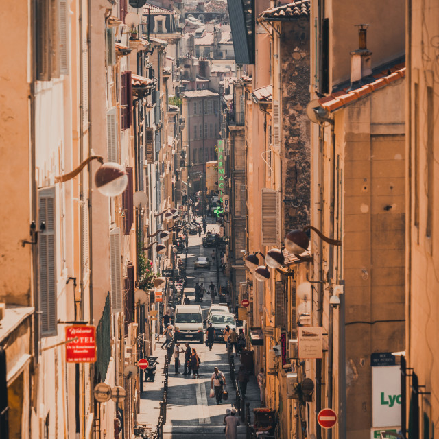 """""""Streets of Marseille"""" stock image"""