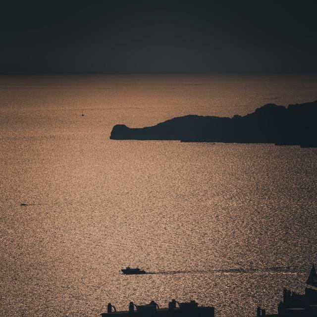 """Marseille shot of te sunset"" stock image"