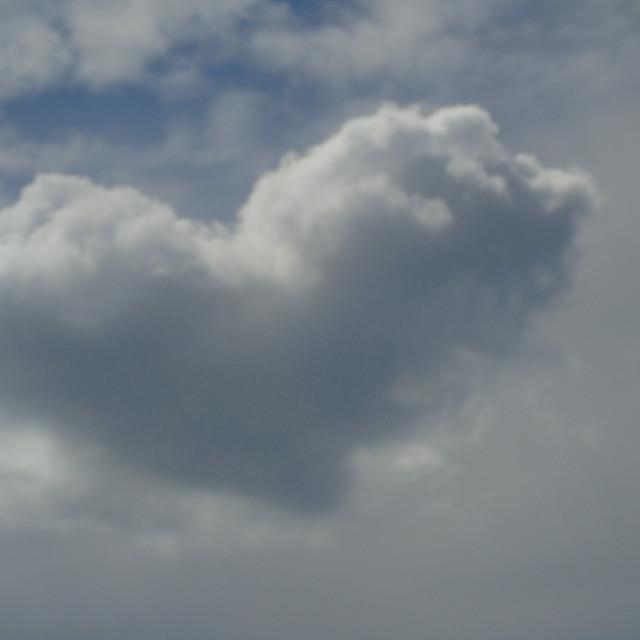 """Love Heart Cloud"" stock image"