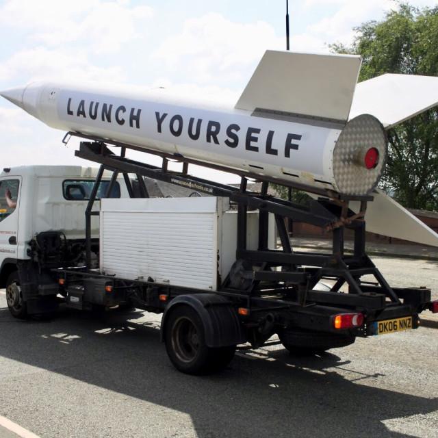 """Altrincham Festival Rocket"" stock image"