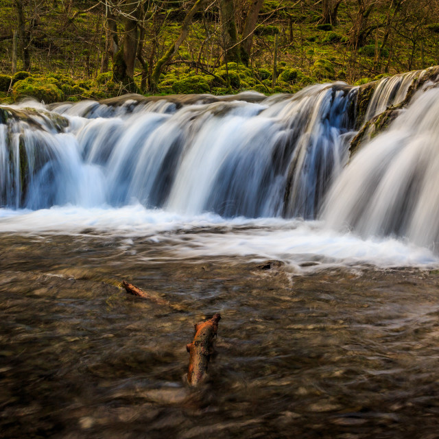 """""""Waterfall on the River Lathkill"""" stock image"""