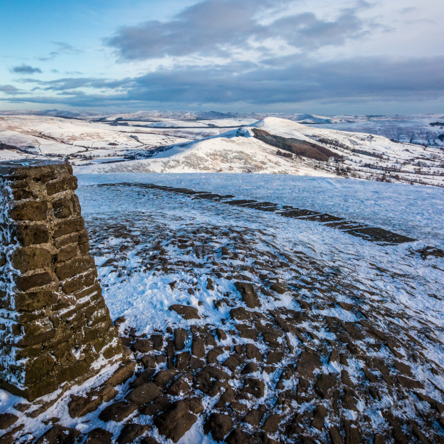"""""""Mam Tor Trig Point"""" stock image"""