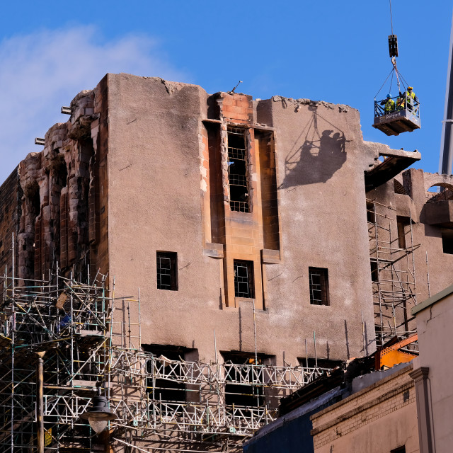 """""""Surveying The MacKintosh Building"""" stock image"""