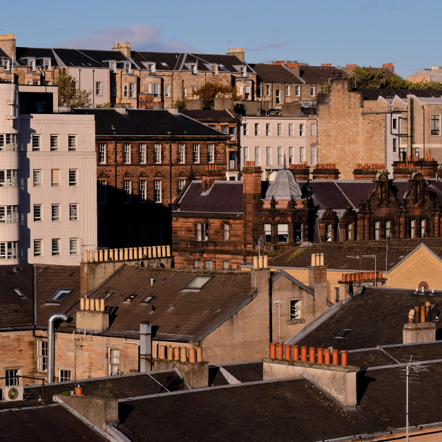 """""""Rooftop View in Glasgow"""" stock image"""