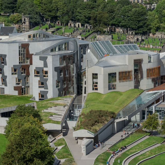 """Scottish Parliament"" stock image"