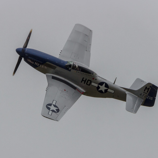 """North American P-51D Mustang"" stock image"