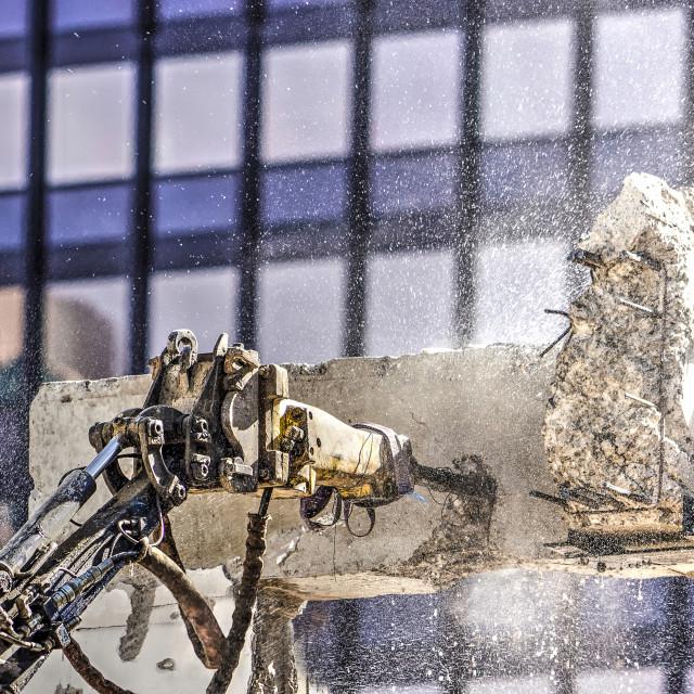 """Pneumatic jackhammer at work"" stock image"