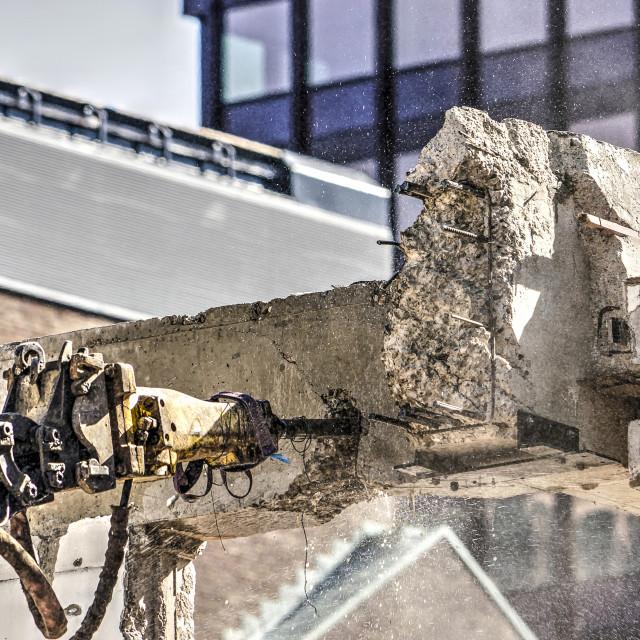 """""""Pneumatic jackhammer close-up"""" stock image"""
