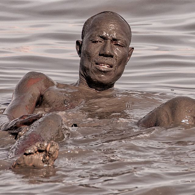 """Dead Sea Mud Bath"" stock image"