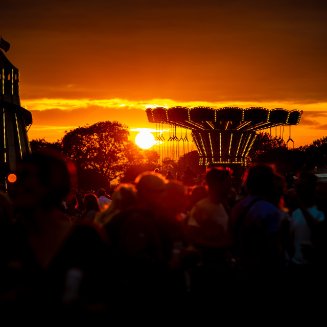 """Festival Sunset."" stock image"