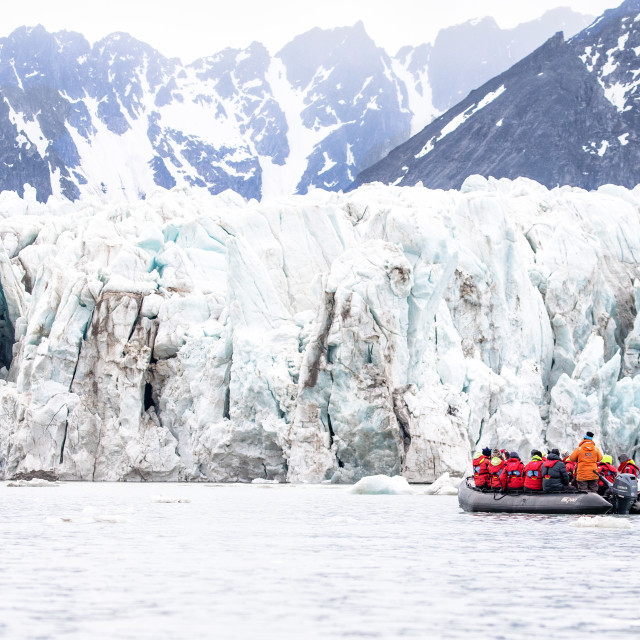 """""""Visiting the Glaciers"""" stock image"""