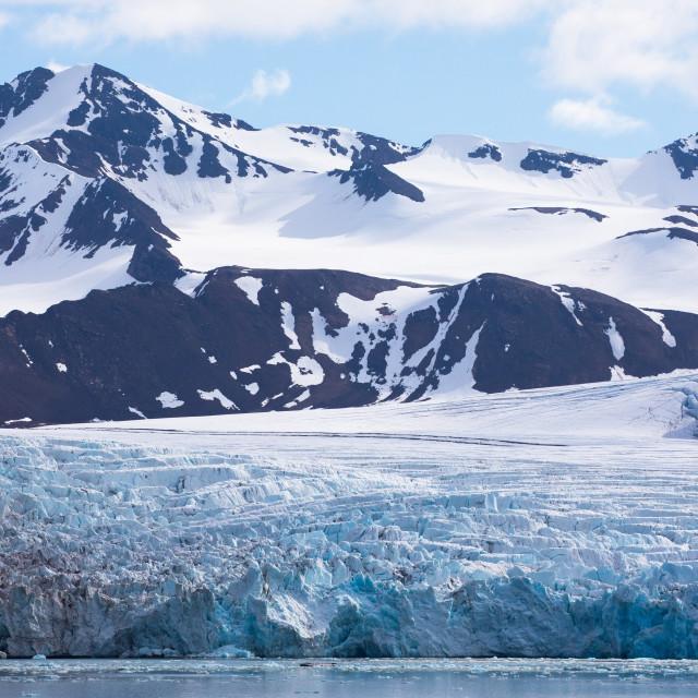 """""""Svalbard Glacier"""" stock image"""