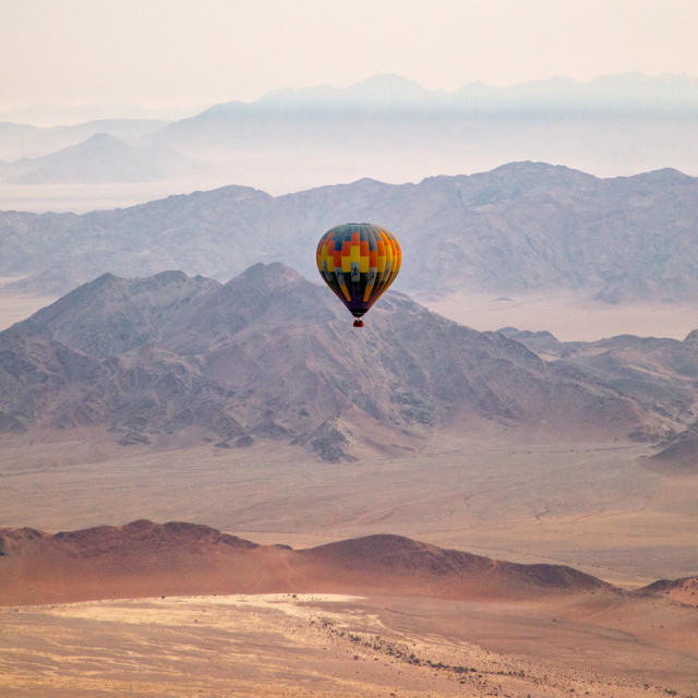 """Hot Air Balloon over Namibia"" stock image"