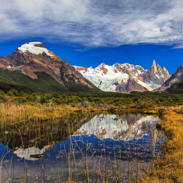 """Cerro Torre, Torre glacier"" stock image"