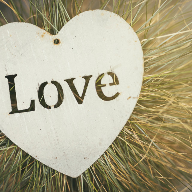 """Heart Shaped Love Plaque"" stock image"