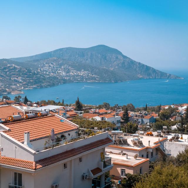 """View of Kalkan Town, Turkey"" stock image"