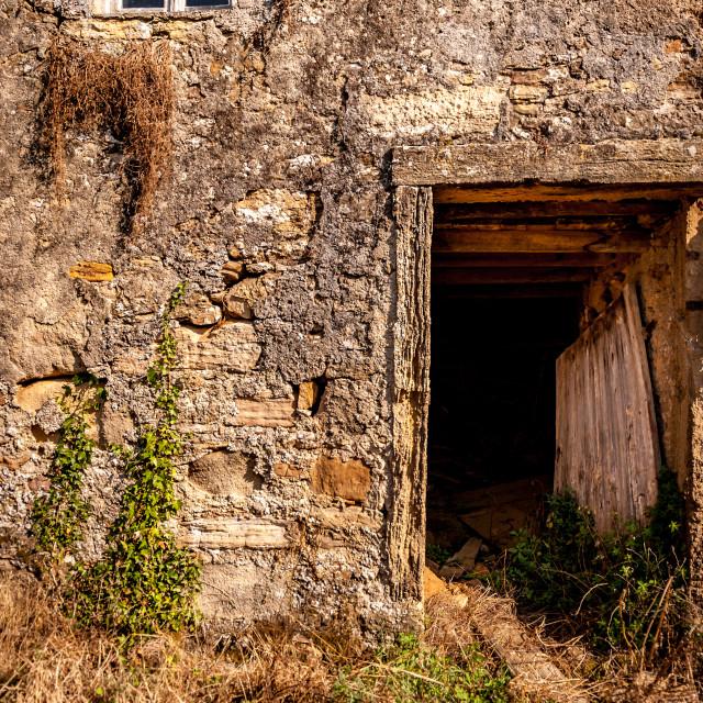 """""""Ruined Doorway"""" stock image"""