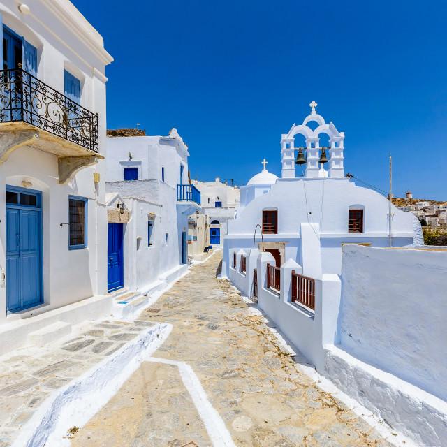 """Chora of Amorgos Island"" stock image"
