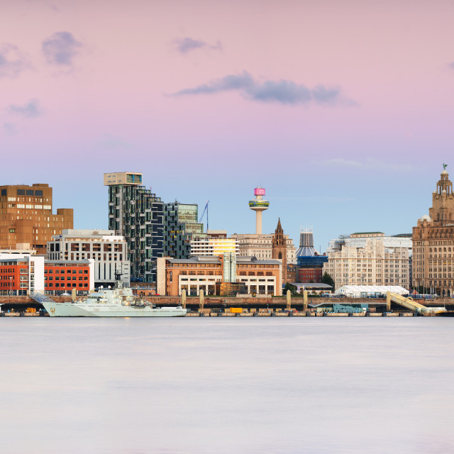 """Liverpool city skyline"" stock image"