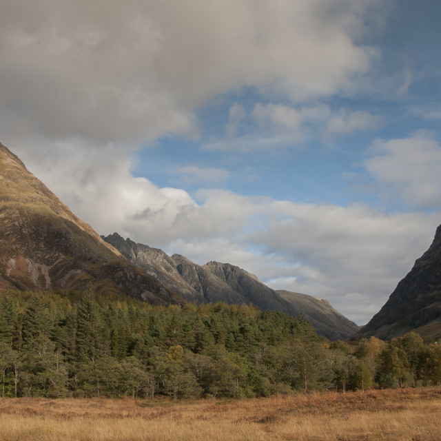 """Glencoe in the Autumn"" stock image"