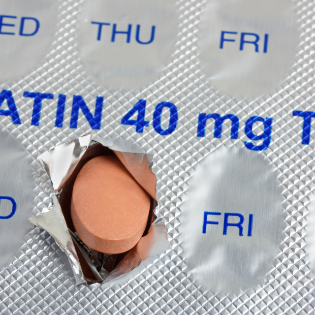 """Daily Statin Tablet Dose"" stock image"