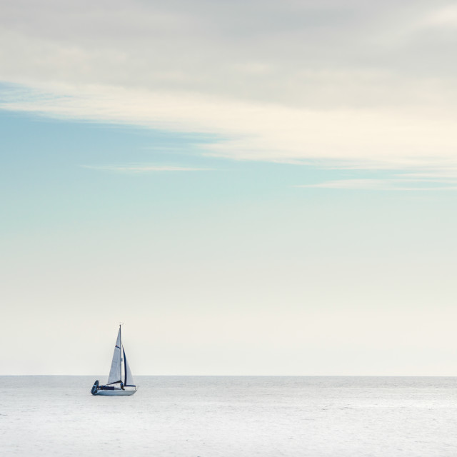 """Sail on the horizon"" stock image"