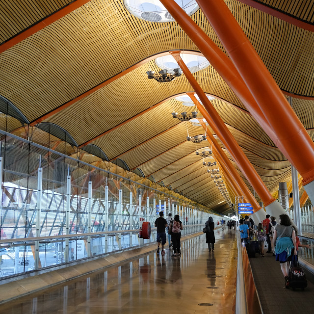 """Madrid Barajas Airport T4"" stock image"