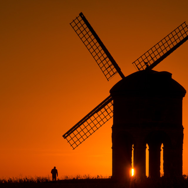 """Silhouette of Windmill"" stock image"
