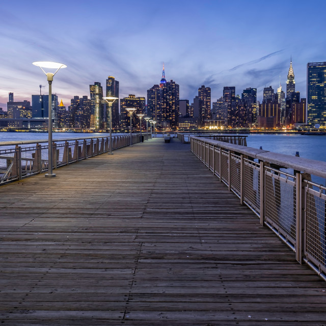 """""""Gantry Plaza State Park in Long Island City, NYC"""" stock image"""