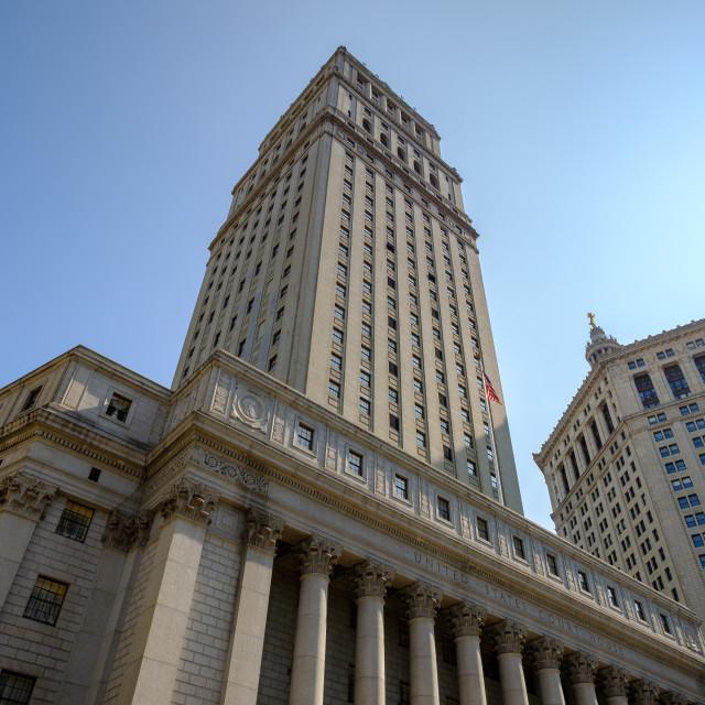 """""""Thurgood Marshall United States Courthouse"""" stock image"""