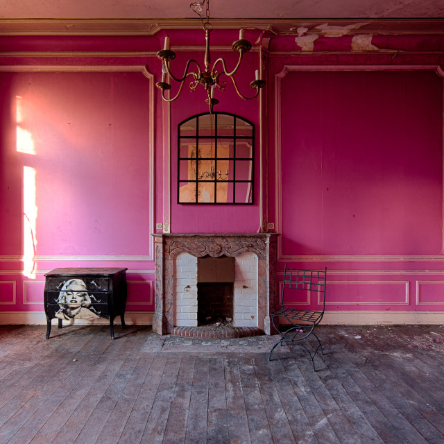 """The Pink room."" stock image"